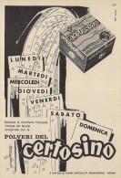 # ACQUA POLVERI DEL CERTOSINO 1950s Advert Pubblicità Publicitè Reklame Food Drink Mineral Water Eau Agua Wasser - Manifesti