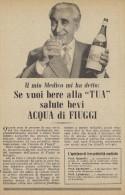 # ACQUA MINERALE FIUGGI 1950s Advert Pubblicità Publicitè Reklame Food Drink Mineral Water Eau Agua Wasser - Manifesti