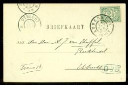 HANDGESCHREVEN BRIEFKAART Uit 1905 Van AMERSTOL Naar UTRECHT  (9835f) - Period 1891-1948 (Wilhelmina)