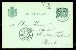 HANDGESCHREVEN BRIEFKAART Uit 1900 Van MONNIKENDAM Naar HAARLEM  (9835j) - Periode 1891-1948 (Wilhelmina)
