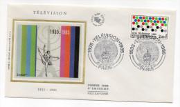 """1985--enveloppe 1er Jour - FDC """"Soie"""" --50 Ans  TELEVISION---cachet  PARIS--75 - FDC"""