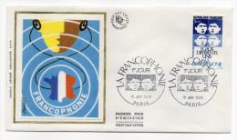 """1985--enveloppe 1er Jour - FDC """"Soie"""" --FRANCOPHONIE---cachet  PARIS--75 - FDC"""