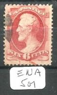 EUA Scott 148 Very Good Black And Red Cancel YT 42 # - Used Stamps