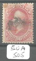 EUA Scott 166 Black And Red Cancels Fine YT 49 # - Used Stamps