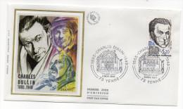 """1985--enveloppe 1er Jour - FDC """"Soie"""" -Charles DULLIN---cachet  YENNE--73 - FDC"""