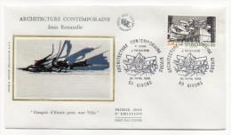 "1985--enveloppe 1er Jour - FDC ""Soie"" -Architecture Moderne-J. RENAUDIE--cachet  GIVORS--69 - FDC"