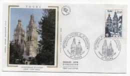 """1985--enveloppe 1er Jour - FDC """"Soie"""" --TOURS-Cathédrale St Gatien --cachet  TOURS---37 - FDC"""