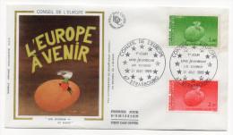 """1985--enveloppe 1er Jour - FDC """"Soie"""" --Conseil De L'Europe (2val) --cachet  STRASBOURG--67 - FDC"""