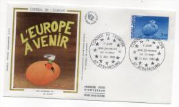 "1985--enveloppe 1er Jour - FDC ""Soie"" --Conseil De L´Europe (3.20f) --cachet  STRASBOURG--67 - FDC"