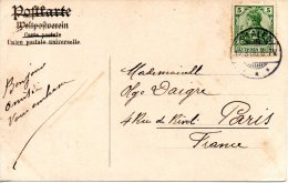 ALLEMAGNE. 5 Pf Sur Carte Postale De Saales à Destination De Paris Ayant Circulé En 1906. - Deutschland