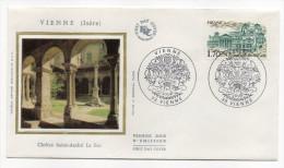 """1985--enveloppe 1er Jour - FDC """"Soie"""" --VIENNE-38--""""Cloître St André Le Bas """" --cachet  VIENNE---38 - FDC"""