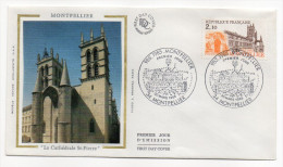 "1985--enveloppe 1er Jour - FDC ""Soie"" --MONTPELLIER--Cathédrale St Pierre --cachet  MONTPELLIER--34--13 - FDC"