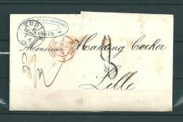 Brief Van Zurich  Naar Lille (France) 16/09/1860 (GA9484) - ...-1845 Préphilatélie