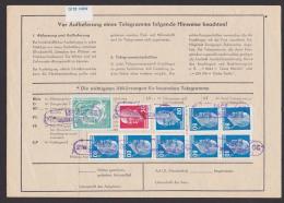 DDR Telegramm  Aufgabeformular Jahnkendorf Riebnitz Damgarten 80(8), 30 Pfg Walter Ulbrich Mit 5 Pfg. Alfred-Brehm -Haus - [6] République Démocratique