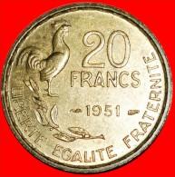 ★COCK: FRANCE★ 20 FRANCS 1951! LOW START ★ NO RESERVE! - France