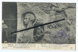 CPA - Soissons - 1914-15 - Dans Les Carrières Du Soissonnais.Sculptures Par Nos Soldats Artistes.Napoléon Et La Républiq - Soissons