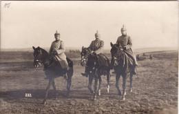 CP Photo Octobre 1916 ELSENBORN - Officiers Allemands à Cheval (A113, Ww1, Wk 1) - Elsenborn (camp)