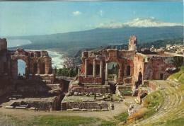 Taormina  Scene Of The Greek Theatre   Italy.  Sent To Denmark  # 04626 - Italy