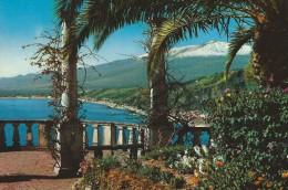 Taormina  General View.  Italy.  Sent To Denmark  # 04628 - Italy