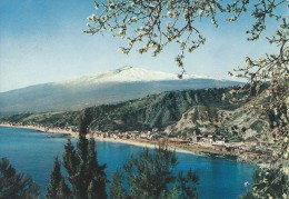 Taormina  Panorama With The Coast Giardini.  Sent To Denmark  # 04629 - Italy