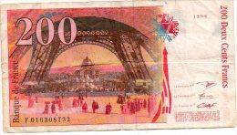Deux Cents Francs 1996  Eiffel F016308732  France Frankrijk  Bankbiljet Biljet - 200 F 1995-1999 ''Eiffel''
