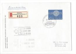 12731 -  Postamtlicher Ballonflug Europa Woche 1961 Recommandé Pour Spiegel - Suisse
