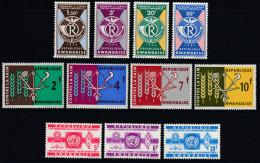 Rwanda 1963 Selection. 3 Complete Sets Mi 23-26, 37-40, 41-43 MNH - 1962-69: Neufs