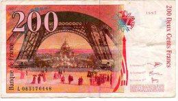 Deux Cents Francs 1997  Eiffel L065170448  France Frankrijk   Bankbiljet Biljet - 1992-2000 Dernière Gamme