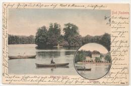 BAD NAUHEIM - Vf 1903 POSTKARTE - TEICH Mit INSEL - TEICH HAUS - Sent To AACHEN - Bad Nauheim