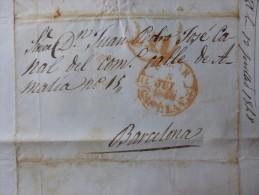 LETTRE CACHET BEJAR 1 REAL A  BARCELONE  1848 - Marcofilie (Brieven)