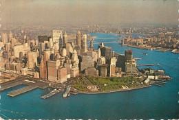 Etats-Unis - New York - Lower Manhattan - The Skyscrapers Rising Behing Historic Battery Park Are The Headquarters -état - Manhattan