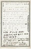 RUNE - MORSE - ECRITURE Runique Et En Morse Sur Carte Postale Allemande Du 4 Octobre 1918 - Languages