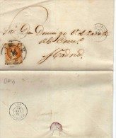 2820  Envuelta   Valladolid   1861 Rueda De Carreta Nº 14  Isabel Ll - Cartas