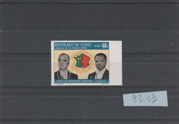 TCHAD  TIMBRE NON DENTELE  N° 243  PRESIDENT POMPIDOU - Tchad (1960-...)