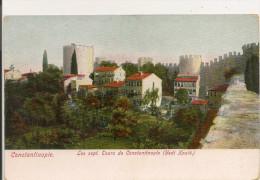 TURQUIE,,,,CONSTANTINOPLE,,,,LES  Sept   TOURS De CONSTANTINOPLE ( ( YEDI  XOULE ),,, COLORISEE,,,,,,TBE,,,, - Turkey