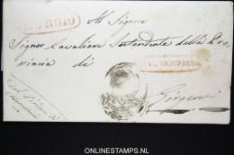 Italia:  Letter Burgio  To Girgenti 1843 Nice Cancels - Italia
