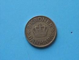 1926 HCN GJ - 2 Krone / KM 825.1 ( Uncleaned - For Grade, Please See Photo ) ! - Danemark