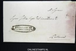 Italia:  Letter Gibellina To ?artanna  1841 Vey Nice Cancels - Italia