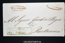 Italia:  Letter From Mazara To Partanna,1846 Nice Cancels - Italia