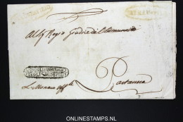 Italia:  Letter From Trapani To Partanna,1807 ? Nice Cancels - Italia