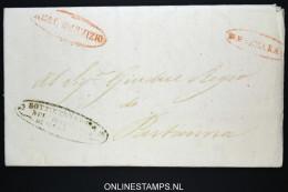 Italia:  Letter From Mazara To Partanna,1856 Nice Cancels - Italia