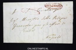 Italia:  Letter Girgenti ? To Napli 1840 - Italia