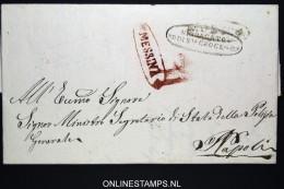 Italia:  Letter Messina To Napoli 1840 - Italia
