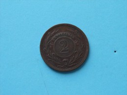 1869 A - 2 Cent / KM 12 ( Uncleaned - For Grade, Please See Photo ) ! - Uruguay