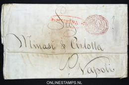 Italia:  Letter Messina To Napoli Very Nice Cancels 1826 - Italia