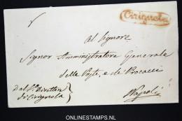 Italia:  Cover  Cirignola To Napoli - 1. ...-1850 Prefilatelia