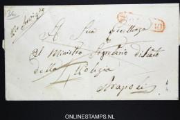 Italia:  Cover  Rosarno To Napoli  1855 - Italië