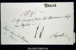 Italia:  Cover Trani  To Napoli - Italië