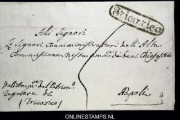 Italia:  Cover Tricarico To Napoli - 1. ...-1850 Prefilatelia