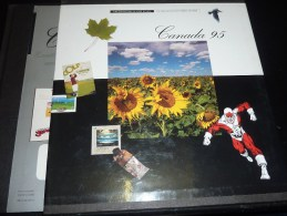 SOUVENIR COLLECTION OF THE POSTAGE STAMPS OF CANADA 1995 - COLLECTION SOUVENIR DES TIMBRES DU CANADA - LIVRE EN FRANCAIS - Canadá